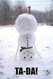 handstand snowman
