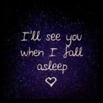 i'll see you when i fall asleep
