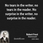 no tears in the writer no tears in the reader
