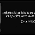 oscar wilde selfishness