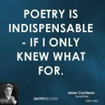 poetry is indispensable