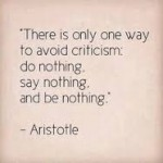 aristotle avoid criticism