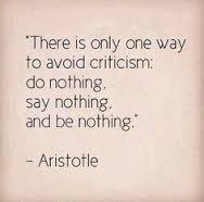 aristotle avoid criticism