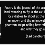 carl sandburg poetry