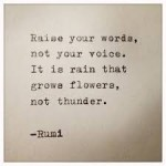 rumi raise your words not your voice