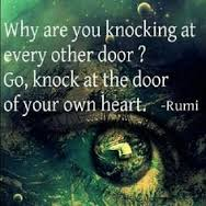 rumi knock at your own heart