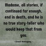 canva Hemingway all stories end in death